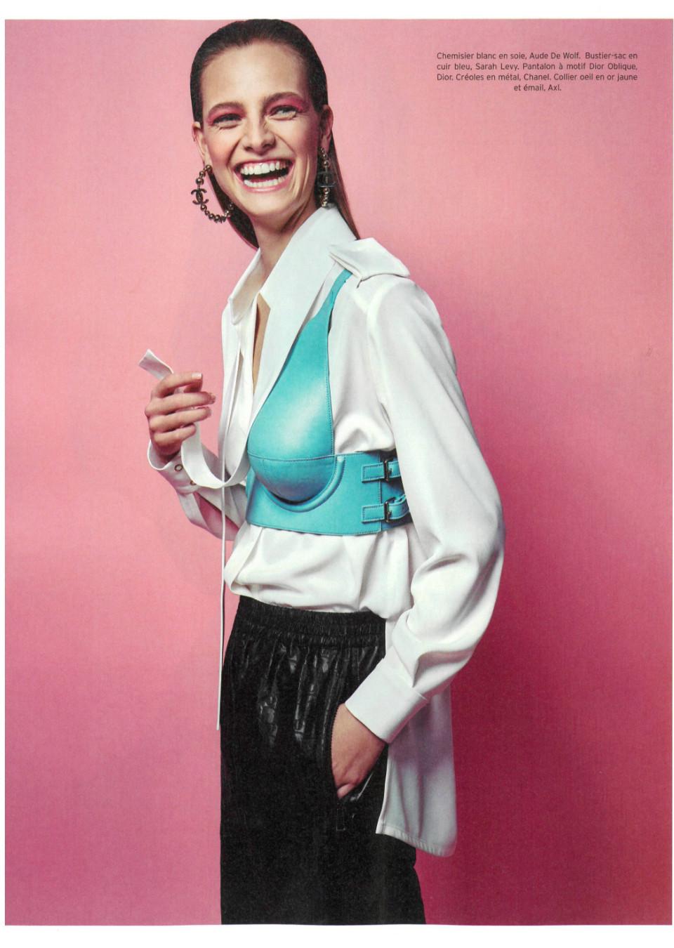 Ine Neefs on the Cover of Elle Belgium